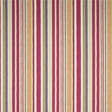 Sienna/Fuchsia/Stone Stripes Decorator Fabric by Baker Lifestyle