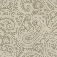 Grey Paisley Decorator Fabric by Baker Lifestyle