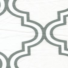 Silver/White Decorator Fabric by RM Coco