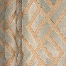 Blue/Creme/Beige Traditional Decorator Fabric by JF