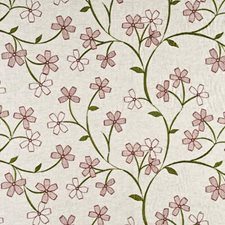 Pink/Green Embroidery Decorator Fabric by Baker Lifestyle