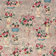 Grey Print Decorator Fabric by G P & J Baker