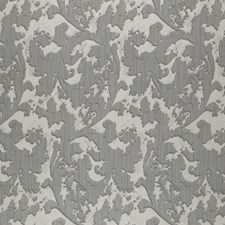 Gray/Silver Abstract Decorator Fabric by JF