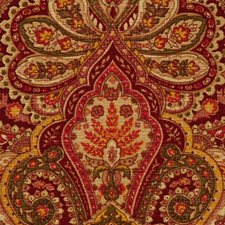 Yellow Gold Paisley Decorator Fabric by RM Coco