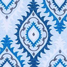 Blue Medallion Decorator Fabric by Duralee