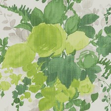 Green Floral Large Decorator Fabric by Duralee