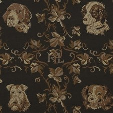 Vintage Black Decorator Fabric by Ralph Lauren