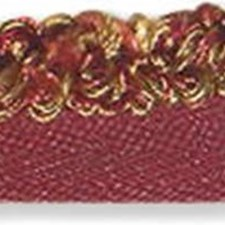 Rouche Yellow/Burgundy/Red Trim by Kravet