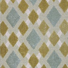 Aqua/Chartreuse Decorator Fabric by Scalamandre