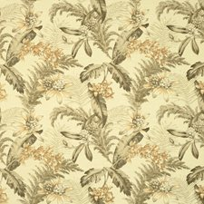 Beige/Brown/Rust Tropical Decorator Fabric by Kravet