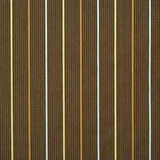 Chocolate Stripes Decorator Fabric by G P & J Baker