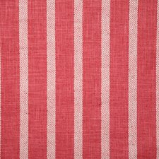 Raspberry Stripe Decorator Fabric by Pindler