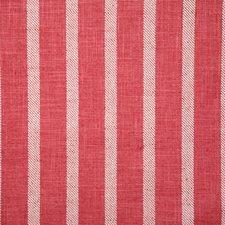 Raspberry Stripe Decorator Fabric by Pindler