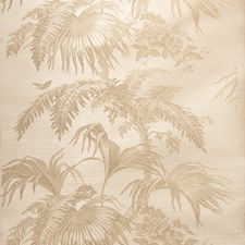 Taupe On Dove Leaves Wallcovering by Stroheim Wallpaper