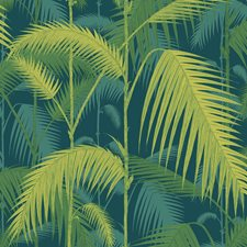Petrol/Lime Botanical Wallcovering by Cole & Son Wallpaper