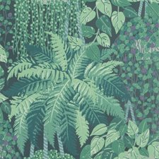 Viridian and Teal Print Wallcovering by Cole & Son Wallpaper