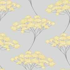 Grey/Yellow Modern Wallpaper Wallcovering by Brewster