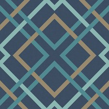 Navy Plaid Wallcovering by Brewster