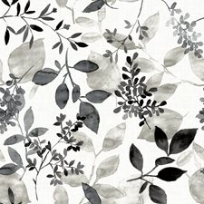 Black Leaf Wallcovering by Brewster
