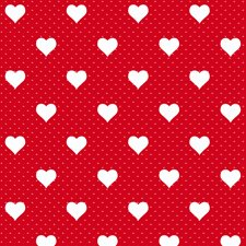 346-0639 Red Hearts Adhesive Film by Brewster