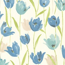Blue Kitchen and Bath Wallcovering by Brewster