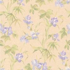414-65780 Iris Lavender Iris Floral by Brewster