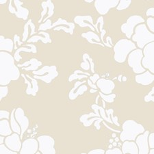Grey Floral Wallcovering by Stroheim Wallpaper