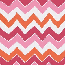 Pink Orange Geometric Wallcovering by Stroheim Wallpaper