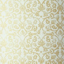 Aqua Wallcovering by Schumacher Wallpaper