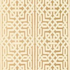 Gold Wallcovering by Schumacher Wallpaper