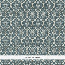 Peacock Blue Wallcovering by Schumacher Wallpaper