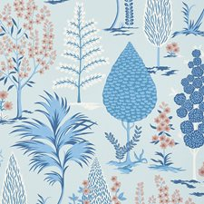 Delft/amp/Rose Wallcovering by Schumacher
