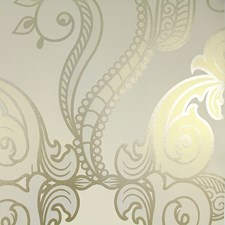Creme/Beige/Green Traditional Wallcovering by JF Wallpapers