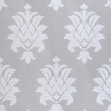 Silver Damask Wallcovering by Stroheim Wallpaper