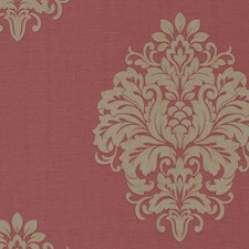 671-68525 Duchess Red Damask by Brewster