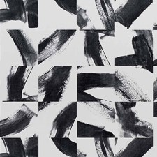 Graphic Black Wallcovering by Phillip Jeffries Wallpaper