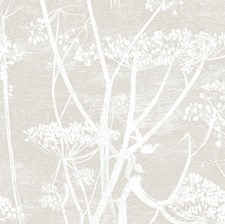 Linen/White Botanical Wallcovering by Cole & Son Wallpaper