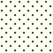 Buttermilk/Licorice Circles Wallcovering by York