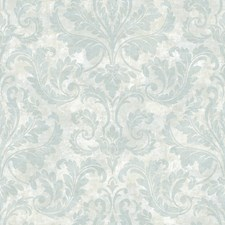 Beige Damask Wallcovering by Brewster