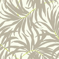 Off White/Medium Grey/Bright Yellow Botanical Wallcovering by York