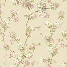 Soft Silver/White/Lilac Floral Medium Wallcovering by York