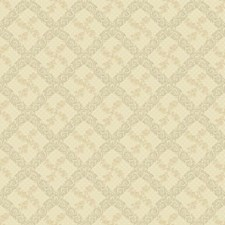 Beige/Gold/Bright Silver Floral Mini Wallcovering by York