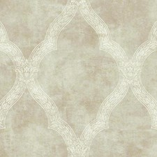 Metallic Beige/Cream Trellis Wallcovering by York