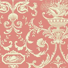 Coral/Cream/Beige Historic Reproduction Wallcovering by York