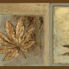 Brown Leaf Wallcovering by Brewster