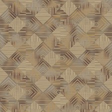 Gray/Red/Gold Geometrics Wallcovering by York