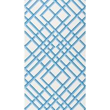 Blue Print Wallcovering by Brunschwig & Fils
