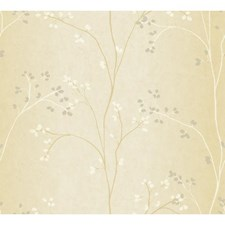 Bisque/White/Gold Pearl Metallic Wall Décor Wallcovering by York