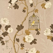 Silver/Bronze Wallcovering by G P & J Baker