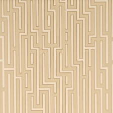 Taupe Geometric Wallcovering by G P & J Baker